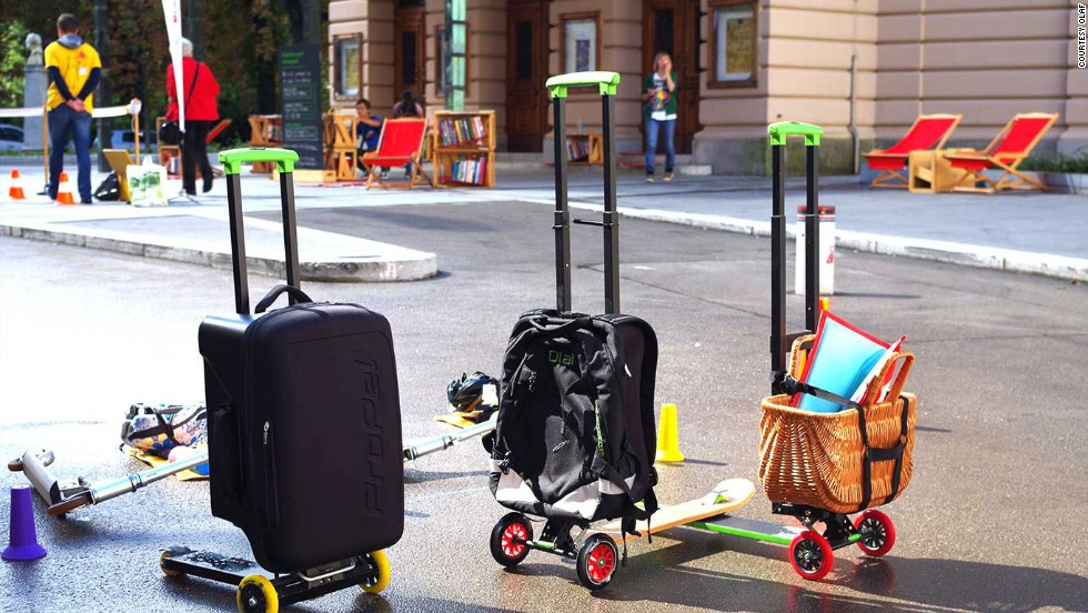 There are three Olaf models -- a business model that's airline approved for use as cabin luggage, an urban model wearable as a backpack and one that can carry another bag.