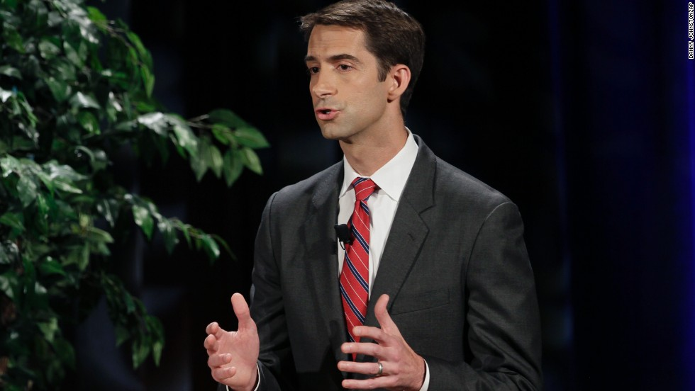 "Cotton tied Pryor to President Obama and his policies in a televised debate last month at the University of Arkansas in Fayetteville, Arkansas. The Iraq War veteran attacked Pryor for supporting ""Obama's radical military drawdown."" Pryor, on the other hand, focused on Cotton's ties to out-of-state billionaires."