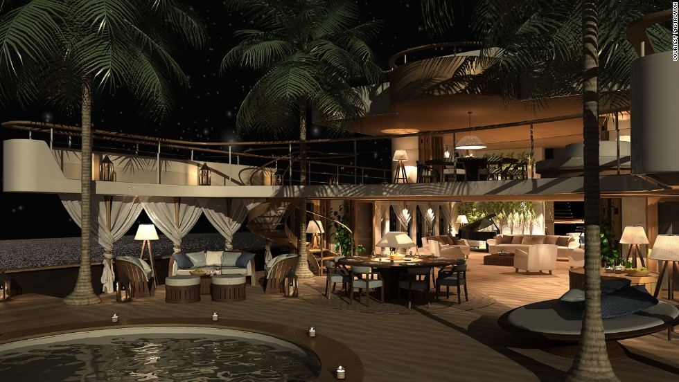 "<strong>BEACH CLUB, designed by Stefano Pastrovich</strong><br /><br />With designs like this, it will take an ambitious client to make Pastrovich's dream boat a reality -- a hard task in what he describes as a ""very conservative yachting industry.""<br /><br />""I think there is a new market emerging from Asia and the Middle East, and they are the ones who invite you to do some crazy, unknown things,"" he explained.<br /><br />""I think the Asian market in particular will go for something unconventional because they don't know what is conventional. China, for instance, is not a country that is used to going to the beach like Europeans. So they're discovering the world of the sea.<br /><br />""They can say 'let's go outside the box,' because they don't have a box to begin with."""