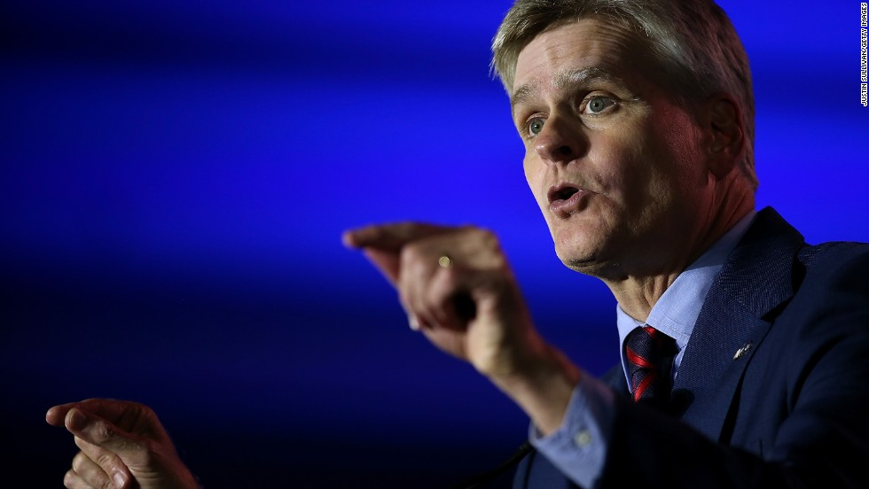 Cassidy speaks May 31 on the final day of the Republican Leadership Conference in New Orleans.