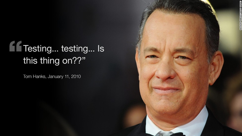 Hanks tweet