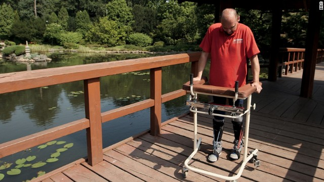 Cell transplant allows paralyzed man to walk again, researchers say