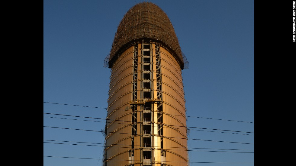 "The People's Daily Headquarters in Beijing was also made fun of by citizens, while mid-construction. A doctored photo of the phallic building superimposed under the CCTV's ""pants"" went viral on the Internet before censors clamped down on the chatter in 2013."