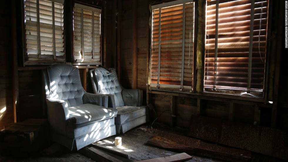 Inside the abandoned house on East 43rd Avenue.
