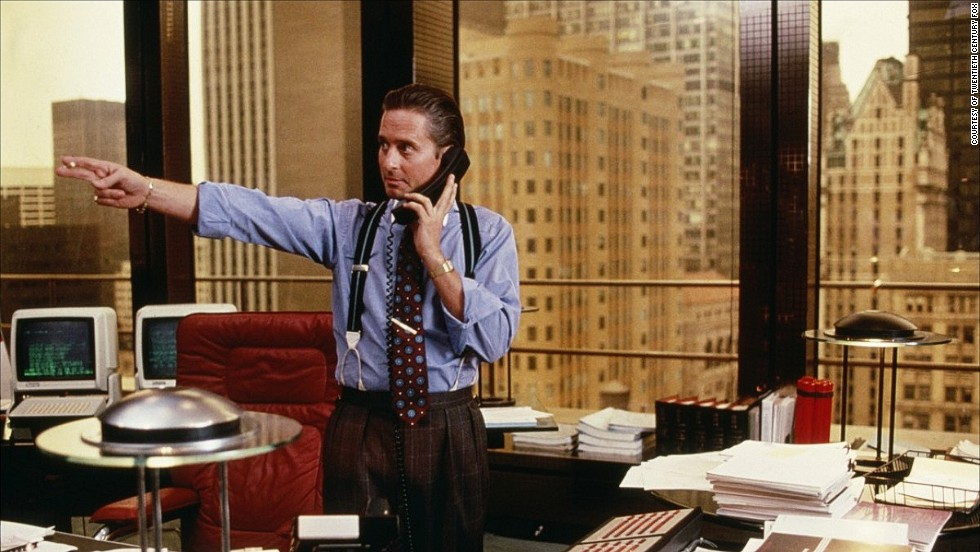 "Why is it that we all want more confidence when there are so many stories of hubris leading to downfall? Just look at the movies. Take ""Wall Street"" sleaze Gordon Gekko (pictured). The stockbroker's ""greed is good"" motto wins him millions but when it gets out of control his illegal activities soon catch up with him."