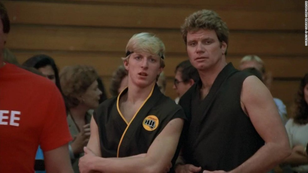 Bullies always seem to get their comeuppance in movies. William Sabka (pictured left) torments and bullies Daniel (The Karate Kid) without any remorse. That's until the film's climatic duel, where the Daniel beats him in a tough but triumphant fight.