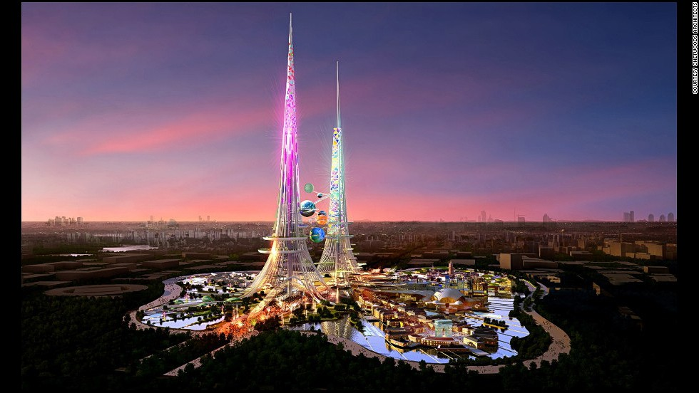 The Phoenix Towers are planned for construction in Wuhan, the capital of Hubei province. The towers will be one kilometer high, and are scheduled for completion by 2017 or 2018.