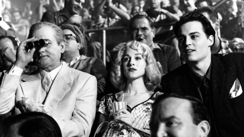 """Murray, as usual, didn't follow """"Groundhog Day"""" with more of the same. Instead he was a role player in Tim Burton's """"Ed Wood"""" (1994), starring Johnny  Depp, right. Murray plays Bunny Breckinridge, one of director Wood's friends."""