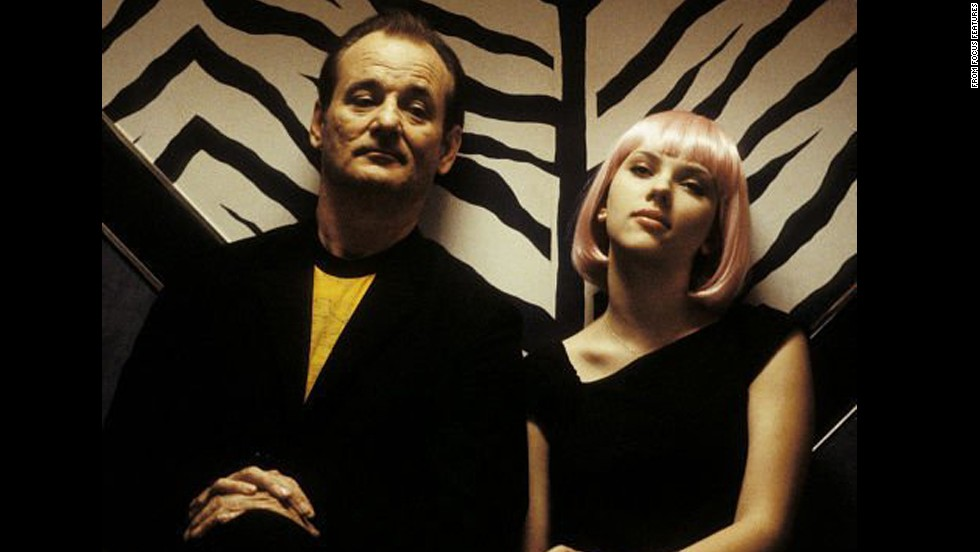 "Murray turned his persona inside-out with 2003's ""Lost in Translation,"" playing a famous actor making a commercial in Japan -- and finding himself ill at ease when not in front of the camera. Scarlett Johansson plays his (chaste) love interest."