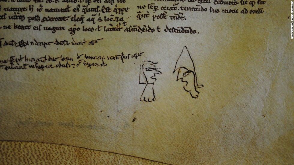 Some of the doodles are rather crude, but they may be depicting a scene of importance to the scribe.