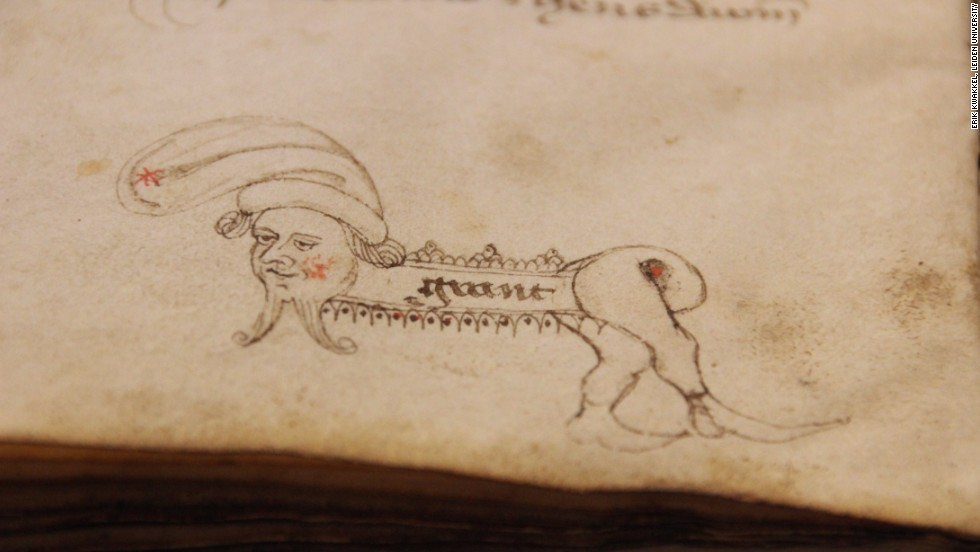 Medieval scribes had to create their own nibs by whittling the ends of feathers. To test them, they often drew doodles that were never intended to be seen. Many of the doodles are extremely imaginative. This artist liked to create weird, hybrid creatures.