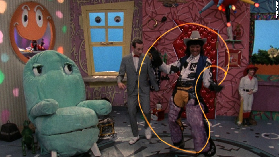 Chairy, Mr. Window, Pee-wee and Cowboy Curtis (Laurence Fishburne -- yes, <em>that</em> Laurence Fishburne).
