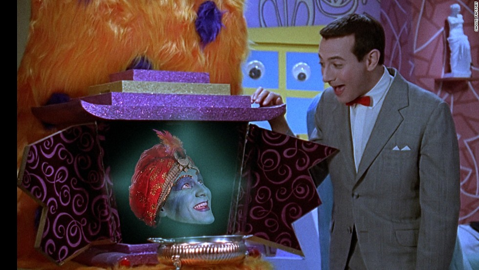 """Mecka-lecka hi, Mecka-hiney ho!"" Jambi was the Playhouse's genie-in-residence. John Paragon, or rather his disembodied head, played Jambi. He was also a writer on the series."