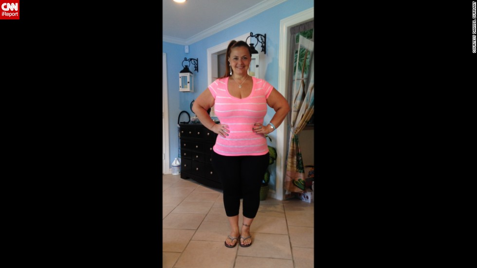 She created a Facebook page to inspire other people to change their diet and exercise more.