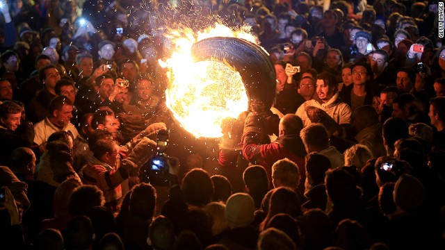 Blazing barrels: The UK's spectacular festivals of fire