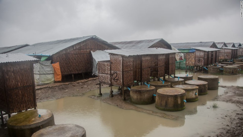 Exposed to severe storms, the camp is often flooded, and has had to be evacuated on occasion. Humanitarian workers in the camp say those who were relocated elsewhere during the storms did not want to return.