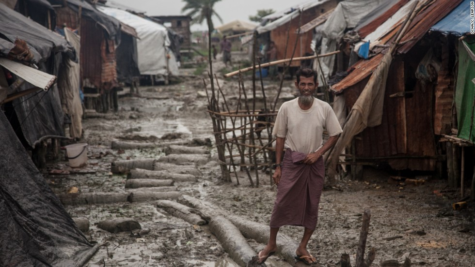 Most shelters in the camp were built to last six months, and are now in bad condition. Inhabitants gather scrap and dismantle other structures to bolster their shelters, say camp workers.
