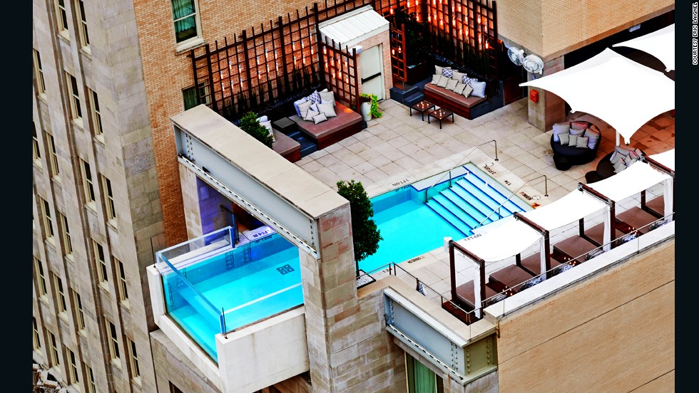 Offering easy access to the central business district, The Joule hotel has one of the coolest pools in Dallas.