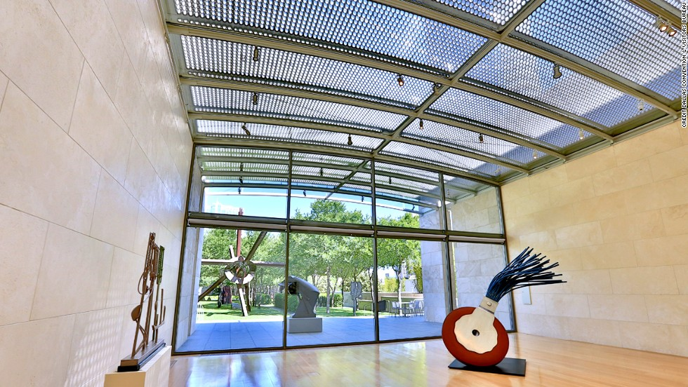 The Dallas Arts District spans 19 contiguous blocks. Among highlights, the Nasher Sculpture Center houses one of the world's most prominent contemporary collections of 20th-century sculpture.