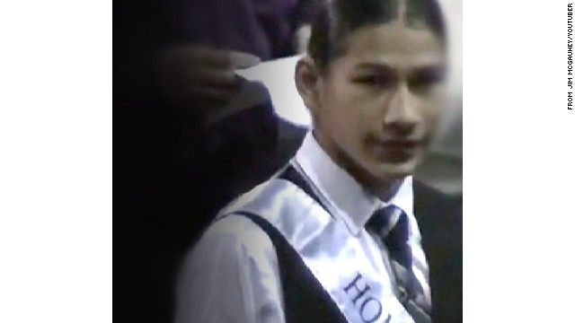 An image of Jaylen Fryberg as homecoming prince, taken from YouTube.