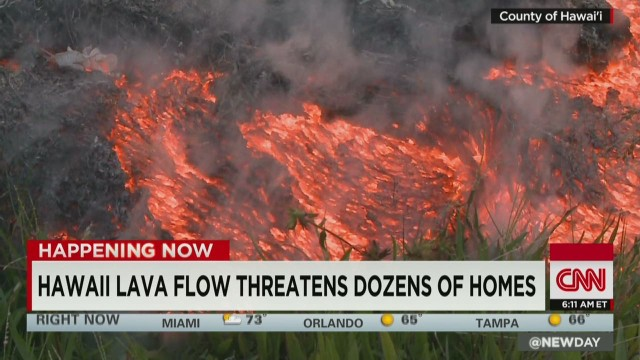 Volcano threatens Hawaii homes