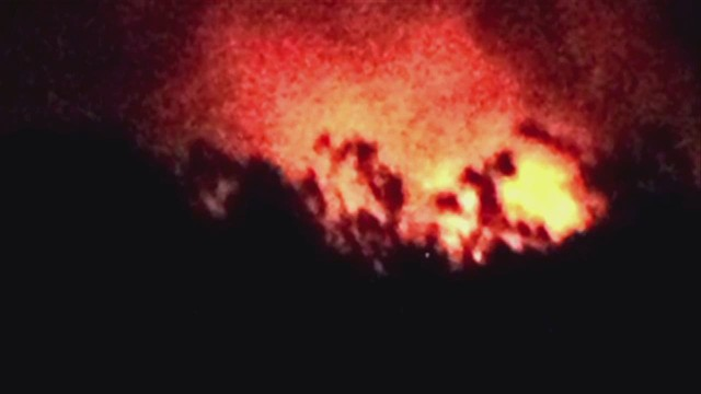 Up close as lava inches towards homes