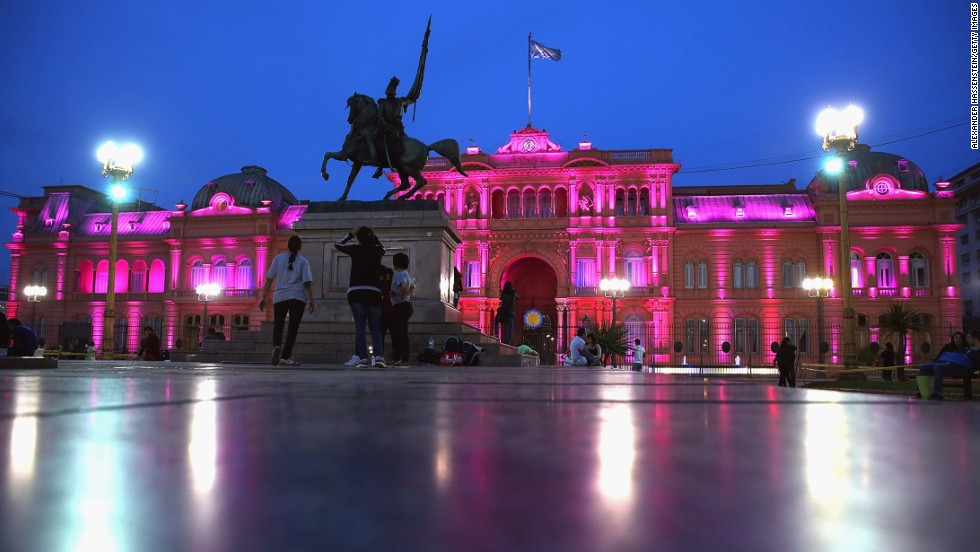The Argentinian Government House, Casa Rosada, in Buenos Aires is seen on September 8, 2013.