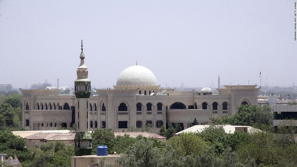 The presidential palace in the Sudanese capital of Khartoum is shown under construction on June 27, 2014.