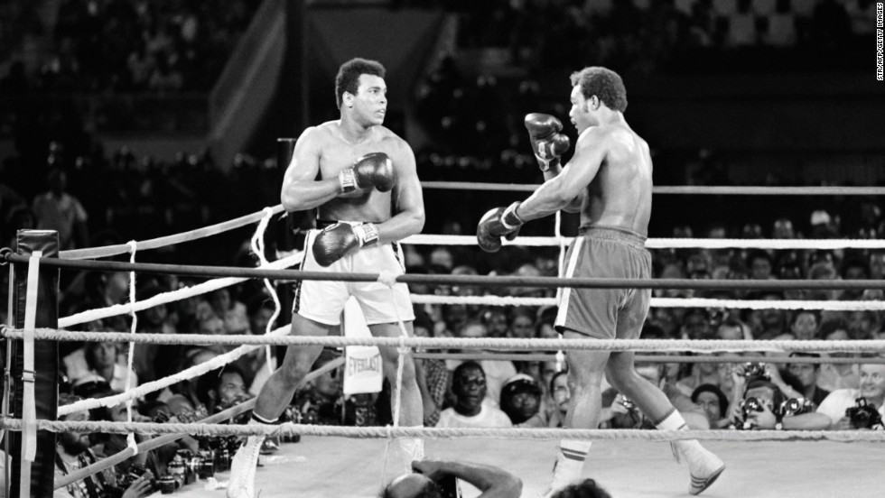 """I shall be the matador and Foreman the bull,"" Ali had boasted in the buildup to the fight, and so it proved. The decisive blow came in the eighth round. A flurry of punches ended with a right hand that sent Foreman sprawling to the canvas."