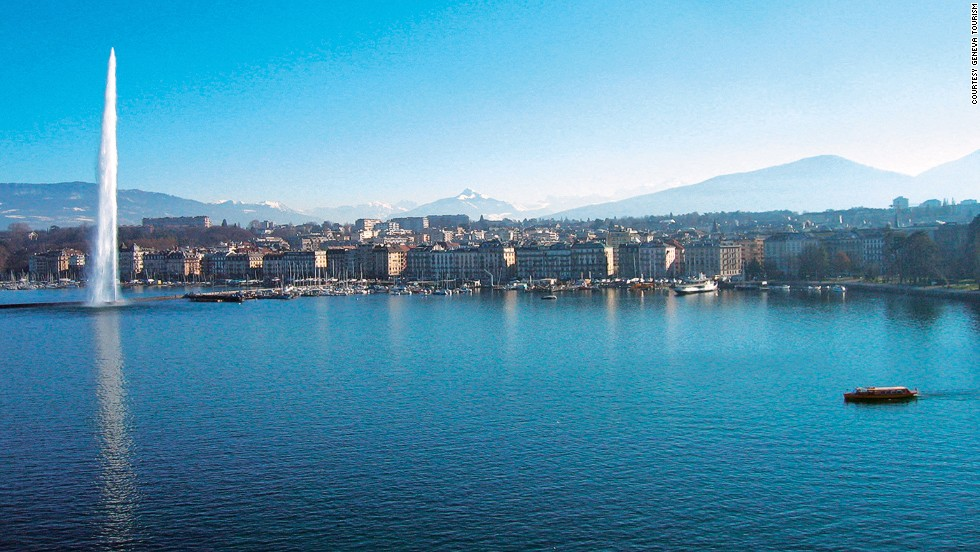 The Jet D'Eau in Geneva, Switzerland, began as a relief valve in a water pipe in the middle of Lake Geneva. The unintended attraction grew so popular it was moved closer to shore.