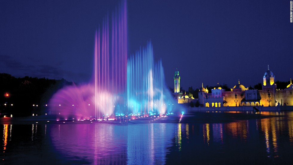 The Aquanura fountains at the Netherlands' Efteling theme park were built to celebrate the park's 60th anniversary in 2012.