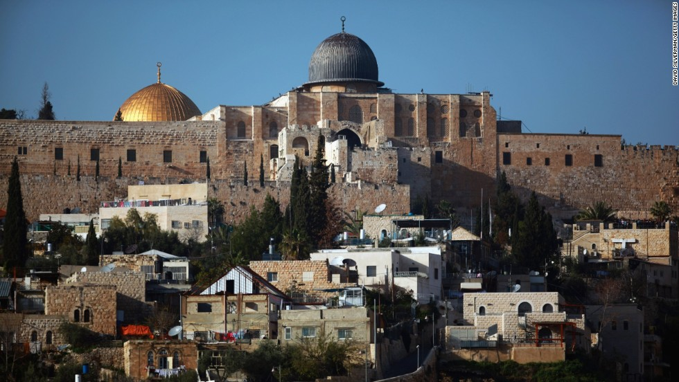 The al-Aqsa Mosque and the Dome of the Rock overlook a neighborhood in East Jerusalem in March 2010.