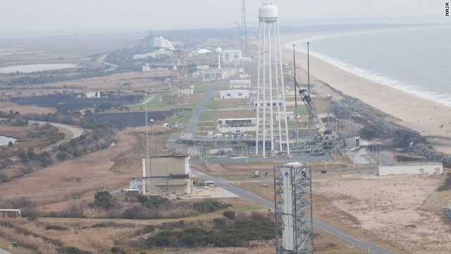 NASA says the explosion damaged buildings near the launch pad, breaking windows and imploding doors.