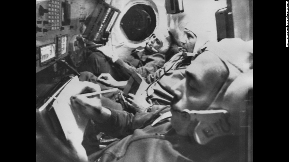 Three Soviet cosmonauts were found dead in their Soyuz 11 spacecraft after an apparently normal landing in June 1971.