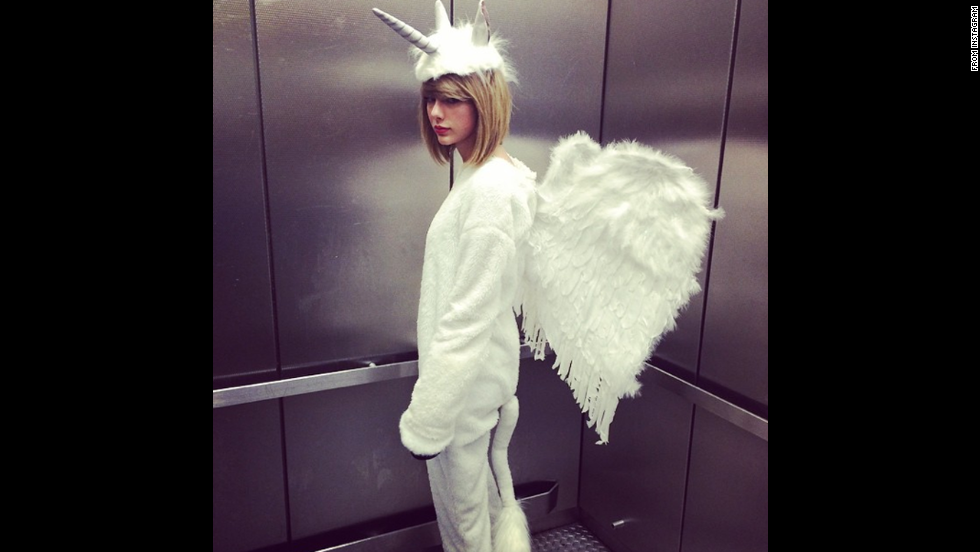 "Check out what Hollywood's stars are donning this Halloween. Taylor Swift wrote on her <a href=""http://instagram.com/p/u0NiOLjvCC/?modal=true"" target=""_blank"">Instagram</a>, ""Cause, darling I'm a nightmare dressed like a PEGACORN."""