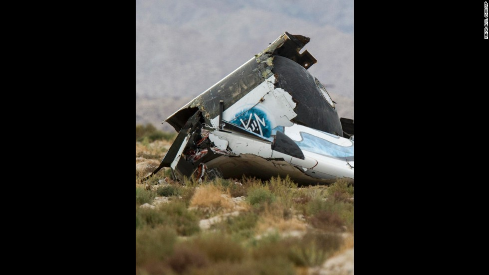 Virgin Galactic wreckage.