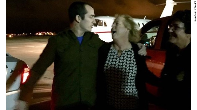 Mexico freed U.S. Marine reservist Sgt. Andrew Paul Tahmooressi, who'd been held in a prison there for seven months. He hugs his mother in San Diego.