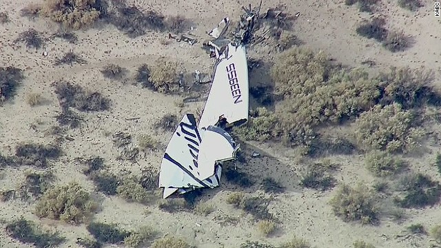 Virgin Galactic spacecraft fails