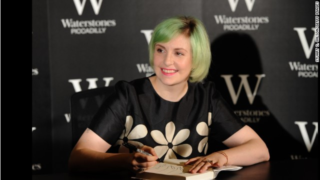 LONDON, ENGLAND - OCTOBER 29:  Lena Dunham meets fans and signs copies of her book 'Not That Kind Of Girl' at Waterstones, Piccadilly on October 29, 2014 in London, England.  (Photo by Stuart C. Wilson/Getty Images)