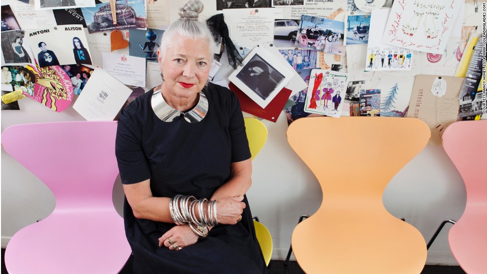 100 older successful British women were photographed by award-winning photographer Nancy Honey in settings that inspire them. 13 of the images can be seen in this gallery, starting with Wendy Dagworthy, Dean of the School of Material and Head of fashion at the Royal College of Art.
