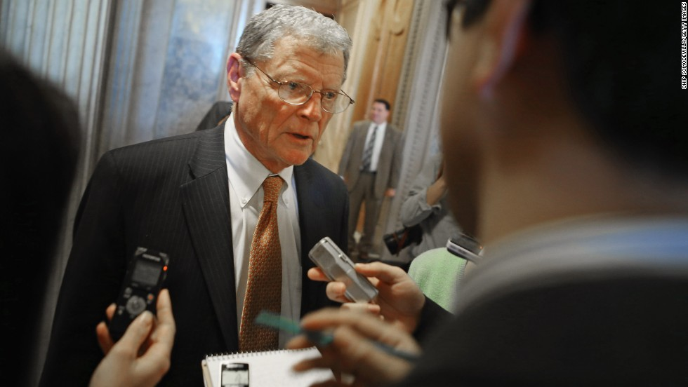"Sen. Jim Inhofe is in position to head the Environment and Public Works Committee. The Oklahoma Republican has voiced his skepticism against climate change claims, calling it ""the most-media hyped environmental issue."""
