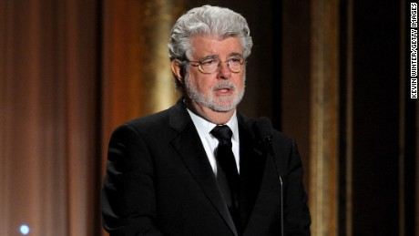 George Lucas at Academy Of Motion Picture Arts And Sciences' Governors Awards on November 16, 2013.