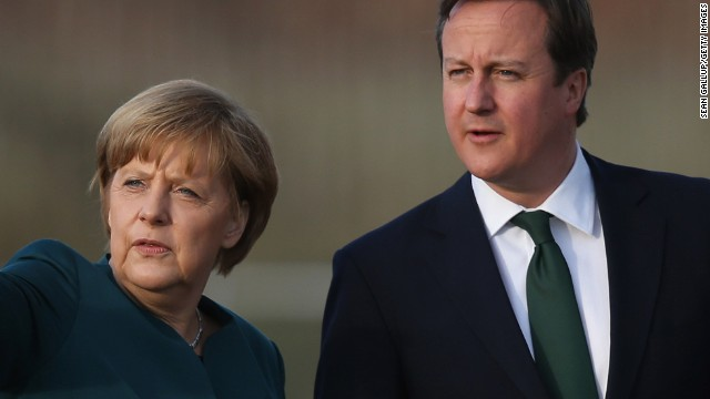 David Cameron is reported to have asked Angela Merkel not to wade in to the UK's referendum debate