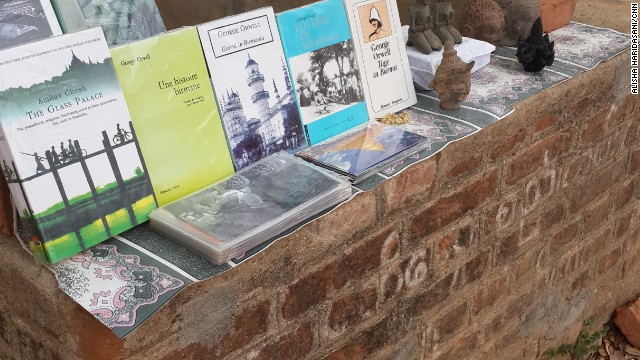 Books once banned and now on sale in Myanmar.