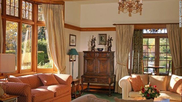 The cozy 1920s style rooms overlook Lake Timara, the Richmond Range mountains and a 25-acre garden.