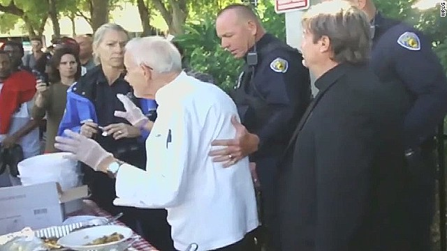90-year-old charged for feeding homeless