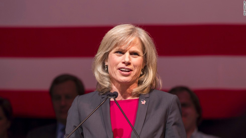 Burke makes her concession speech in Madison on November 4.