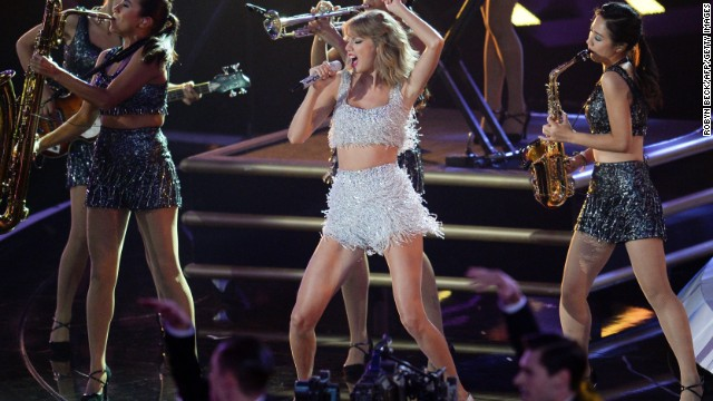 Taylor Swift performs on stage at the MTV Video Music Awards (VMA), August 24, 2014 at The Forum in Inglewood, California.