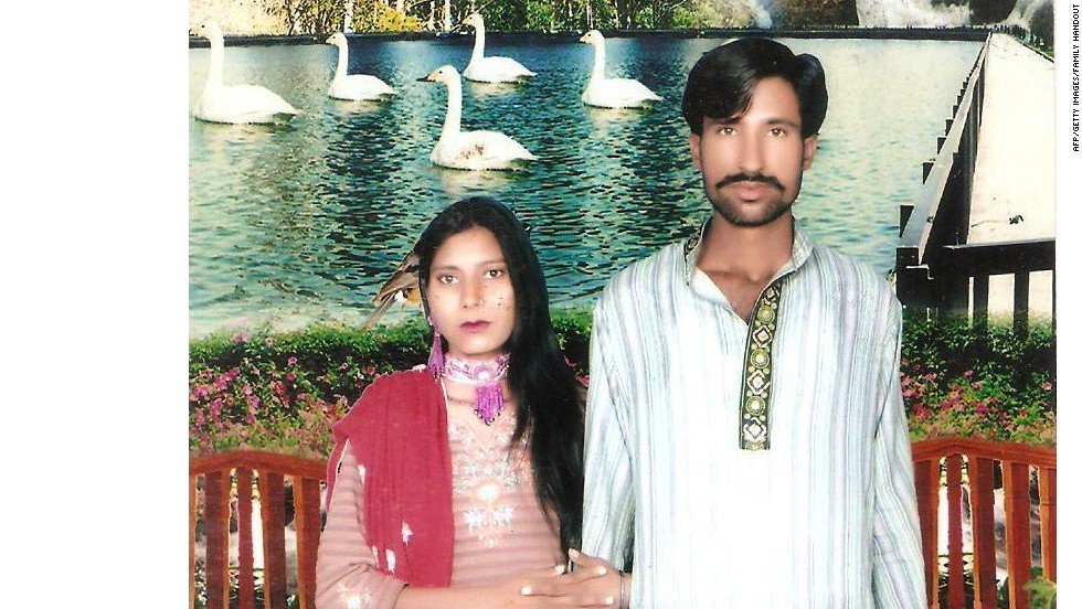 Police identified the woman as Shyman Bibi Urf Shamar, and her husband as Sajjad Nasir Zurjah Nazir Nasir, seen here in this undated photo.