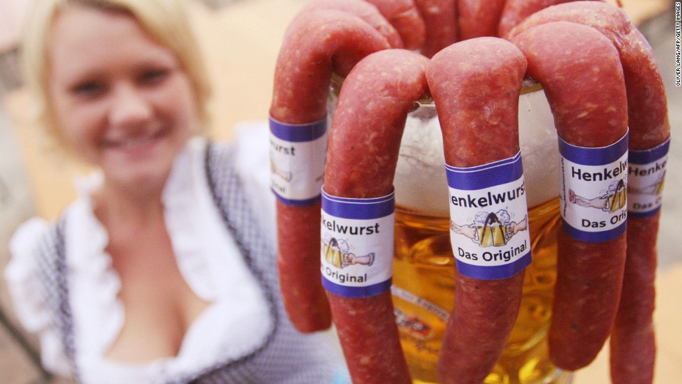 We couldn't decide which smell most took us back to Bavaria, sausage or freshly tapped beer. So we went with both.